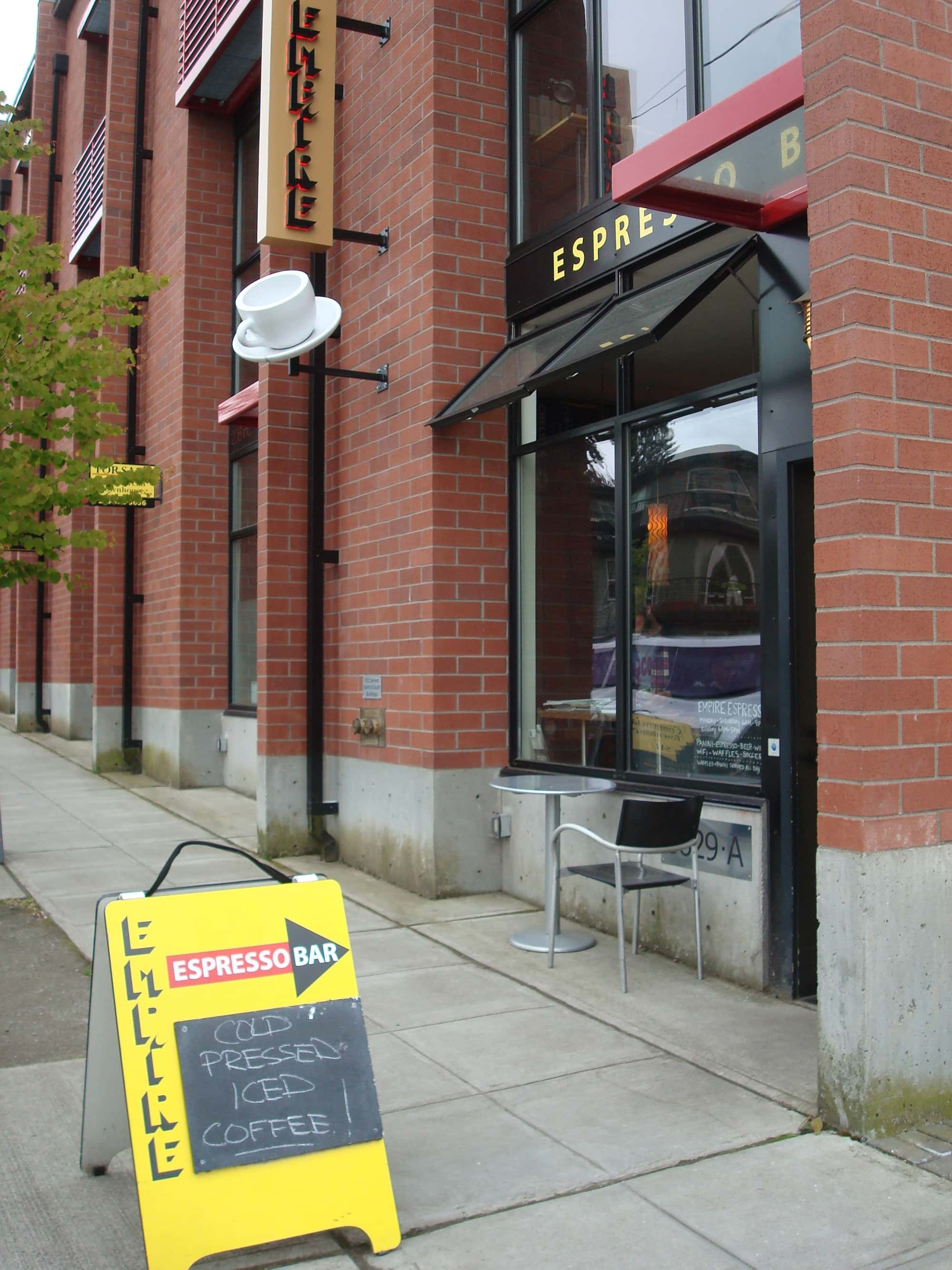 One of Seattle's most well know local coffee shops in Seattle's Columbia City neighborhood.