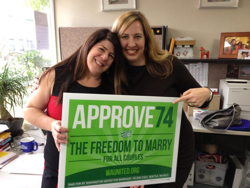 Kim and Chavi Supporting Marriage Equality