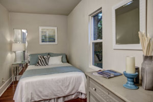 The main level bedroom is perfect for you or use the loft as your secret sleeping nook.