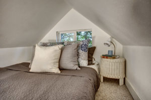 The secret sleeping loft was added during the 2005 renovation and truly utilizes all of the space in the cottage.
