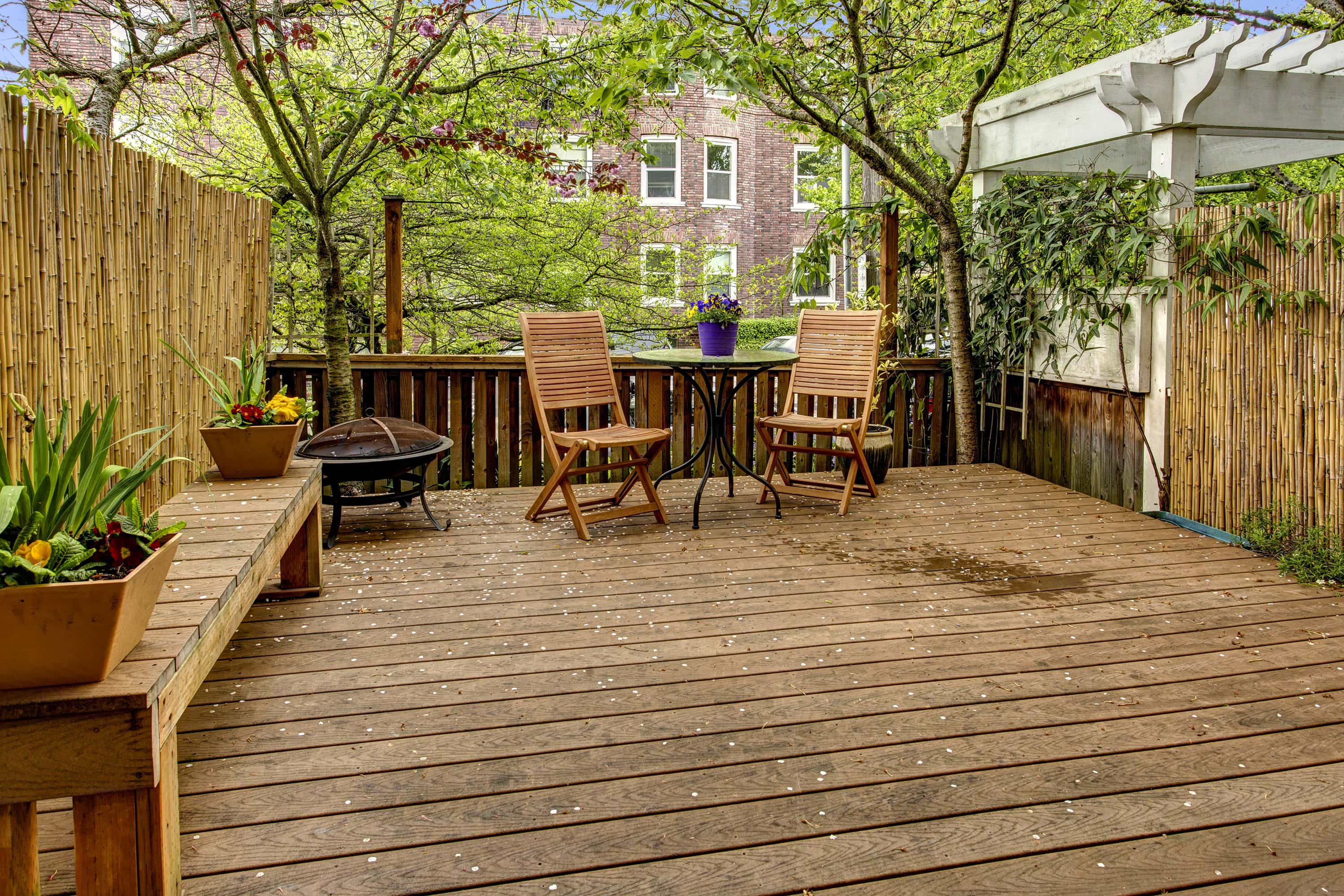 Huge deck is perfect for BBQ's.