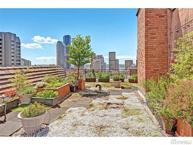 Condo rooftop deck