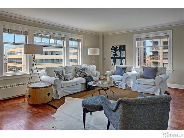 Living Room at The Gainsborough Condo