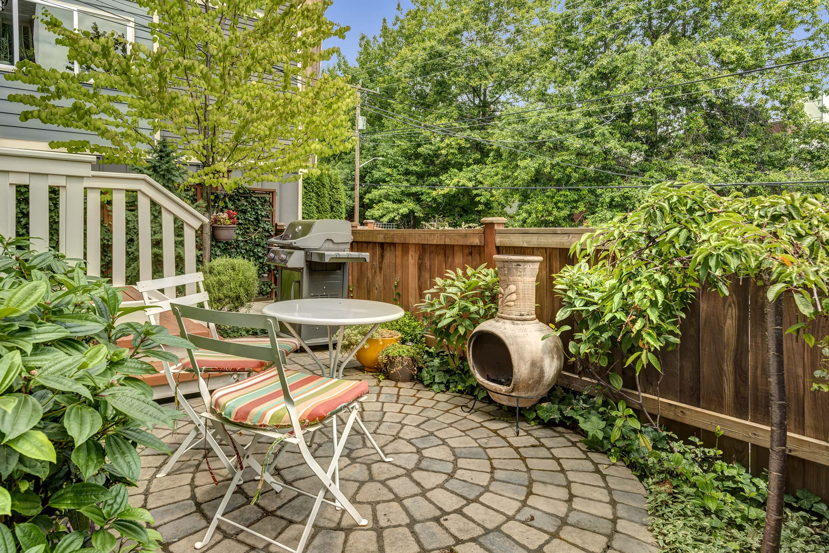 The current owners use this patio year round!