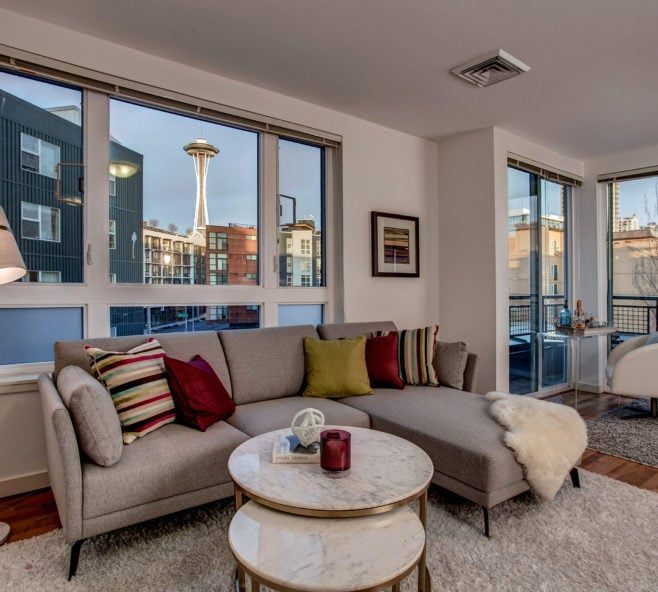 Belltown View Condo Living Room