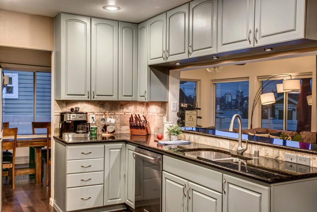 West Seattle Luxury Kitchen Evening View