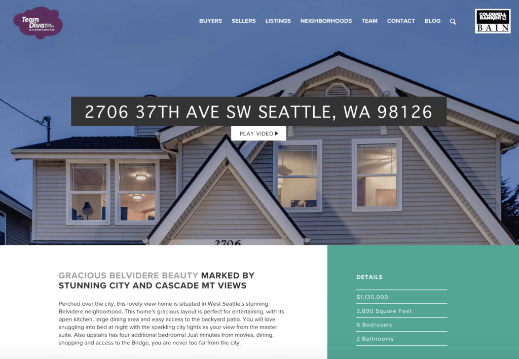 West Seattle Luxury Listing Featured on Team Diva Real Estate