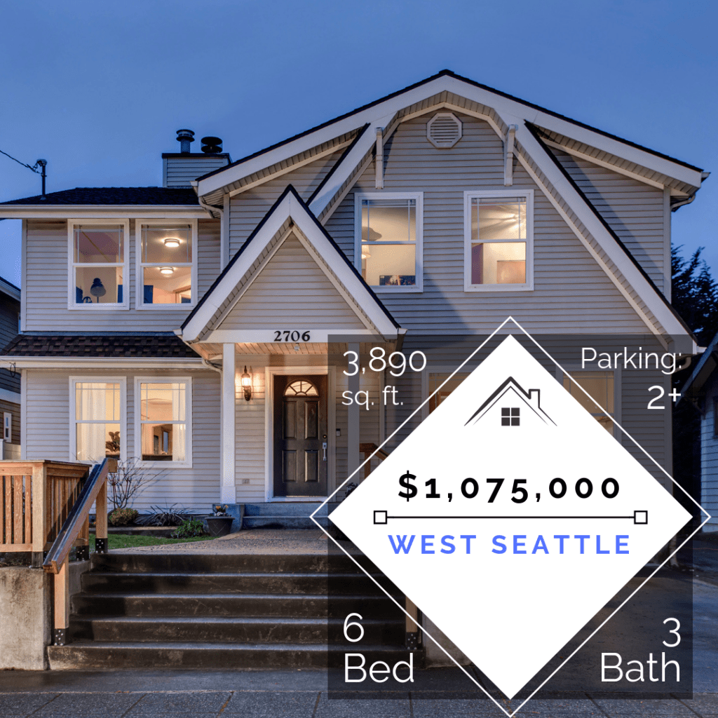 Instagram and Email Marketing Image for this Luxury West Seattle Home