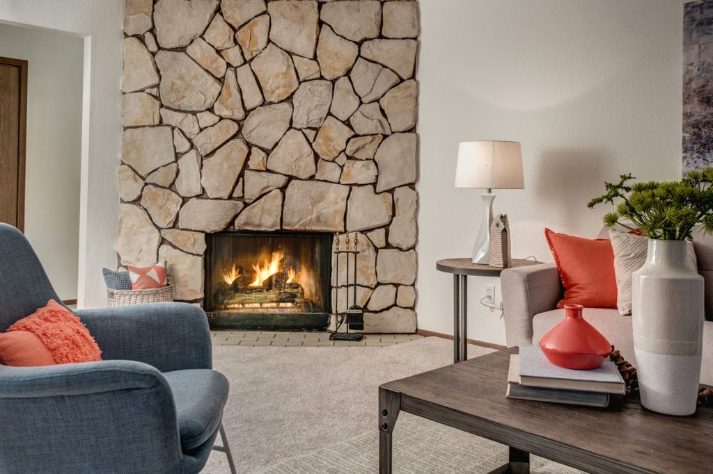 Pinehurst Mid-Century Condo with a Stunning Fireplace