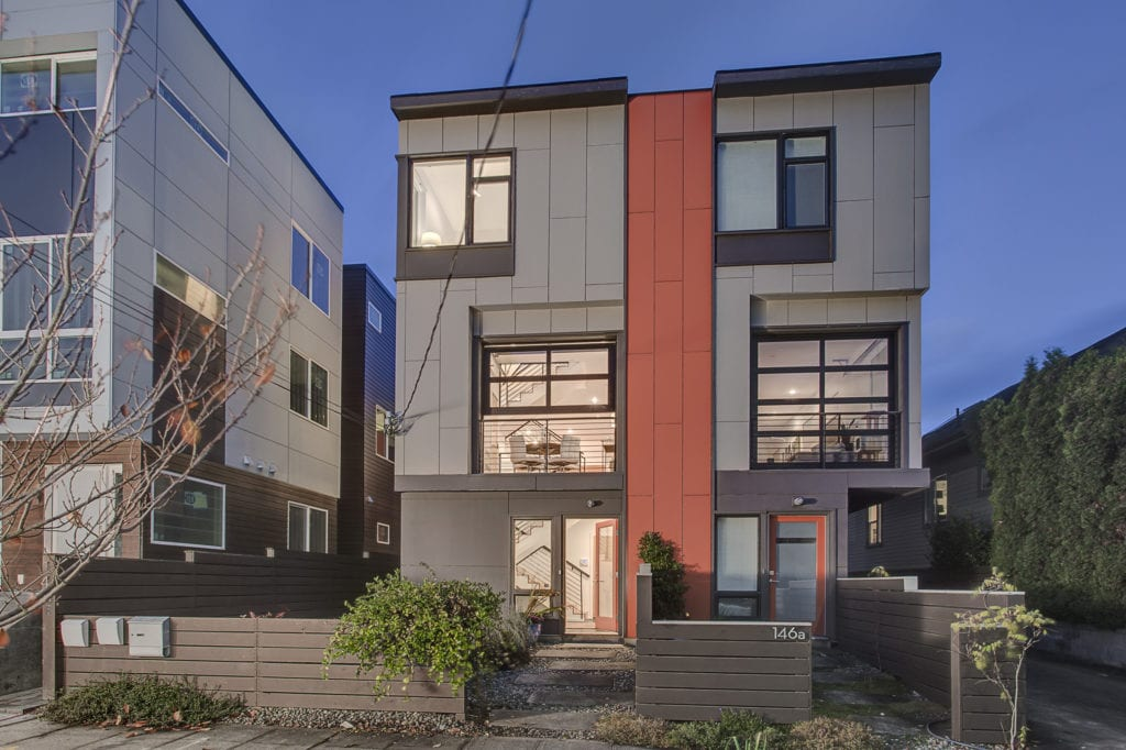 The Stately Difference Between This Modern Capitol Hill Townhome and Its Newer Neighbor