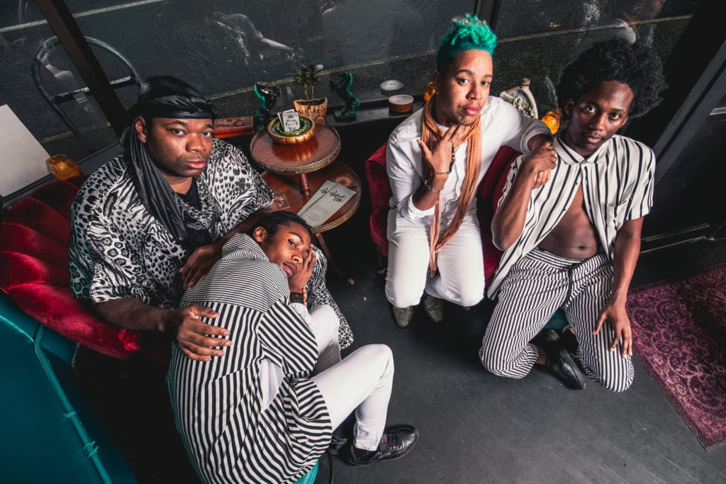 Dani Tirrell with Members of Black Bois in December 2019