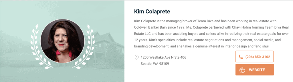 Expertise Awards Kim as One of Seattle's Top Real Estate Agents