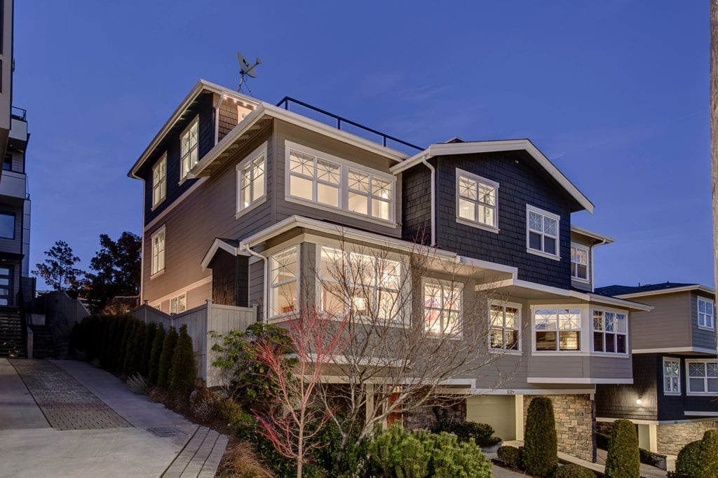 Queen Anne Space Needle View Home at Twilight