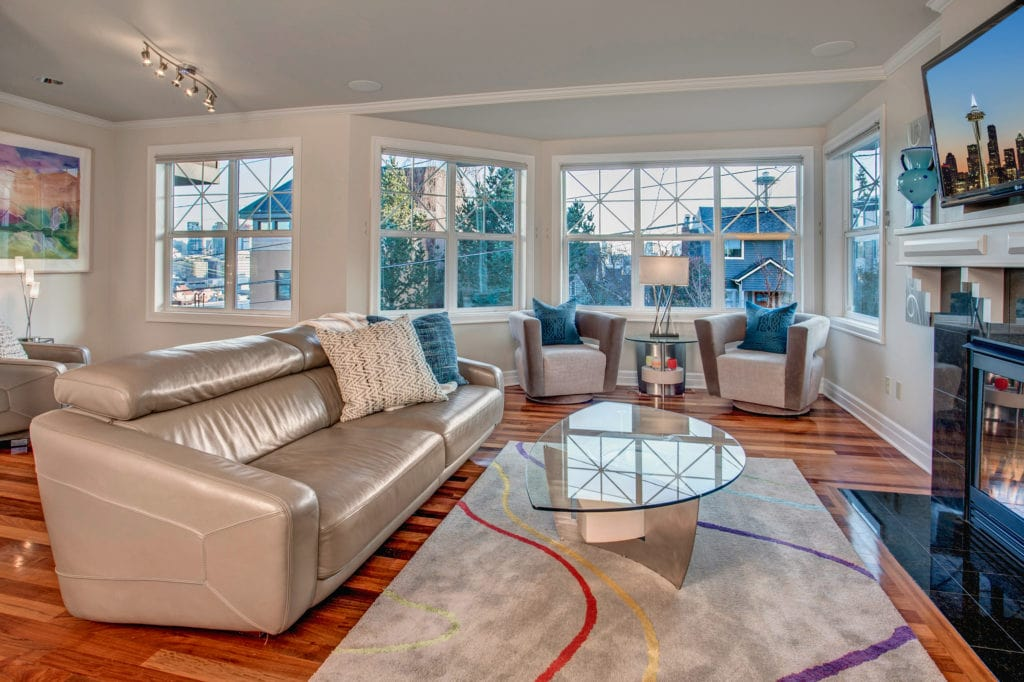 Luxury Queen Anne View Home Living Room