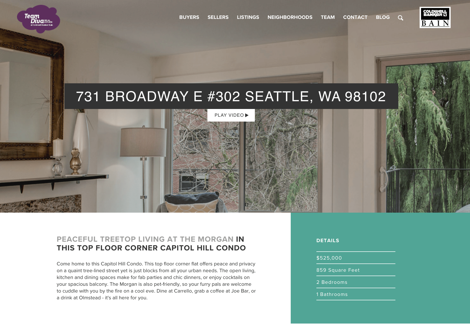 Just Sold Capitol Hill Condo - Website