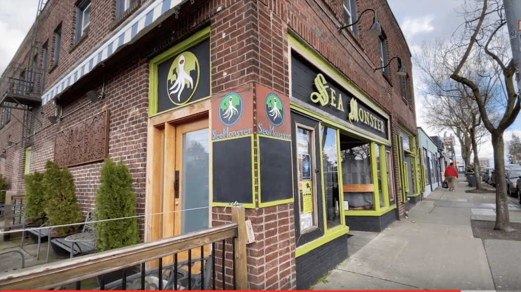 Sea Monster Lounge in Downtown Wallingford