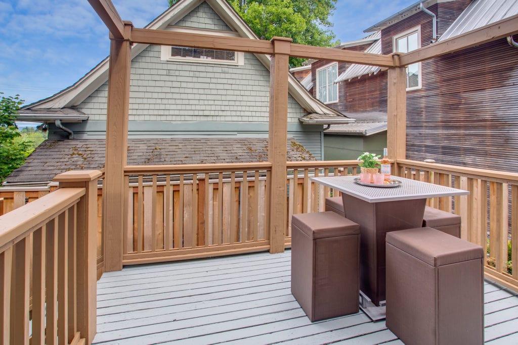 Madison Valley Home Backyard Deck