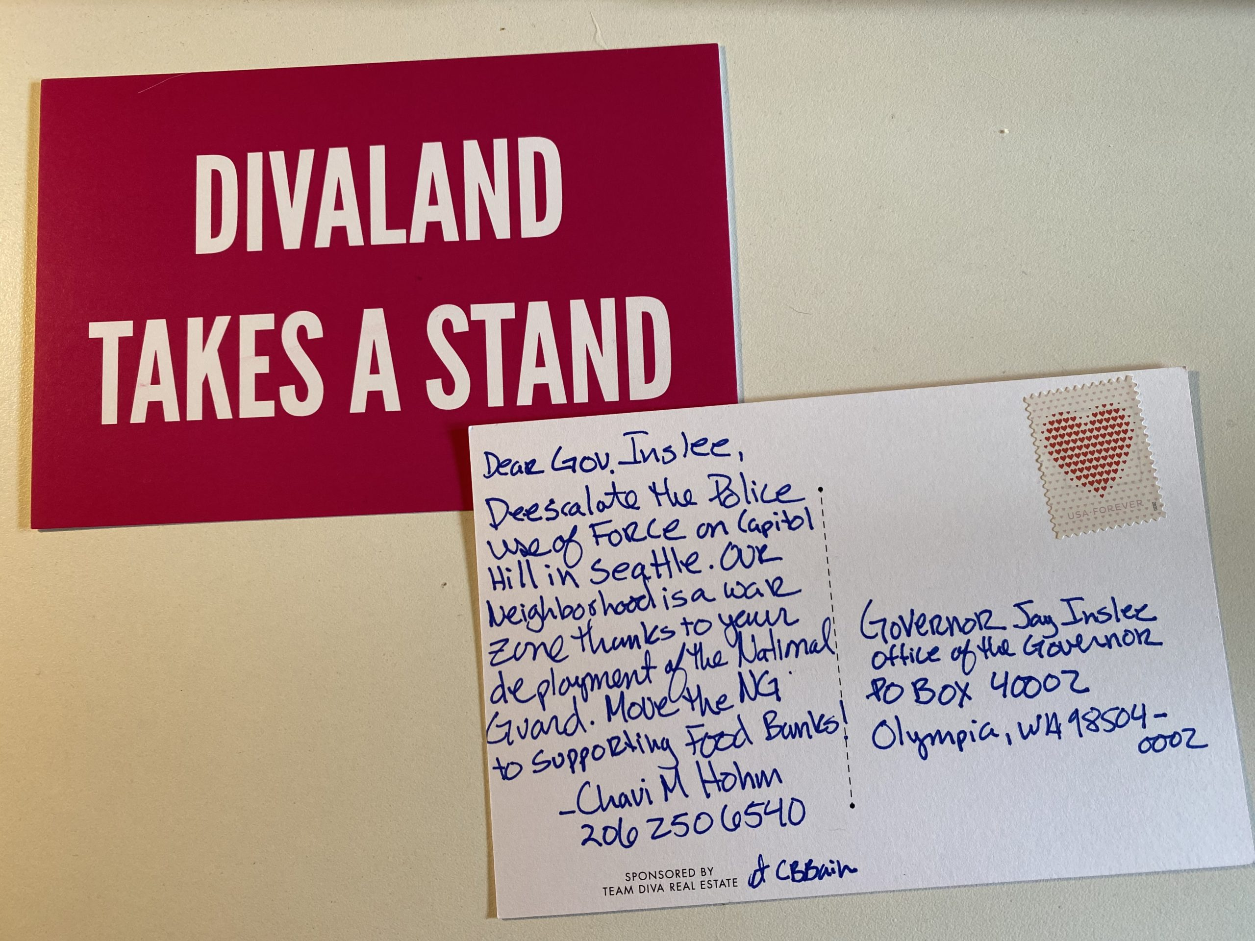 Postcard to the Governor