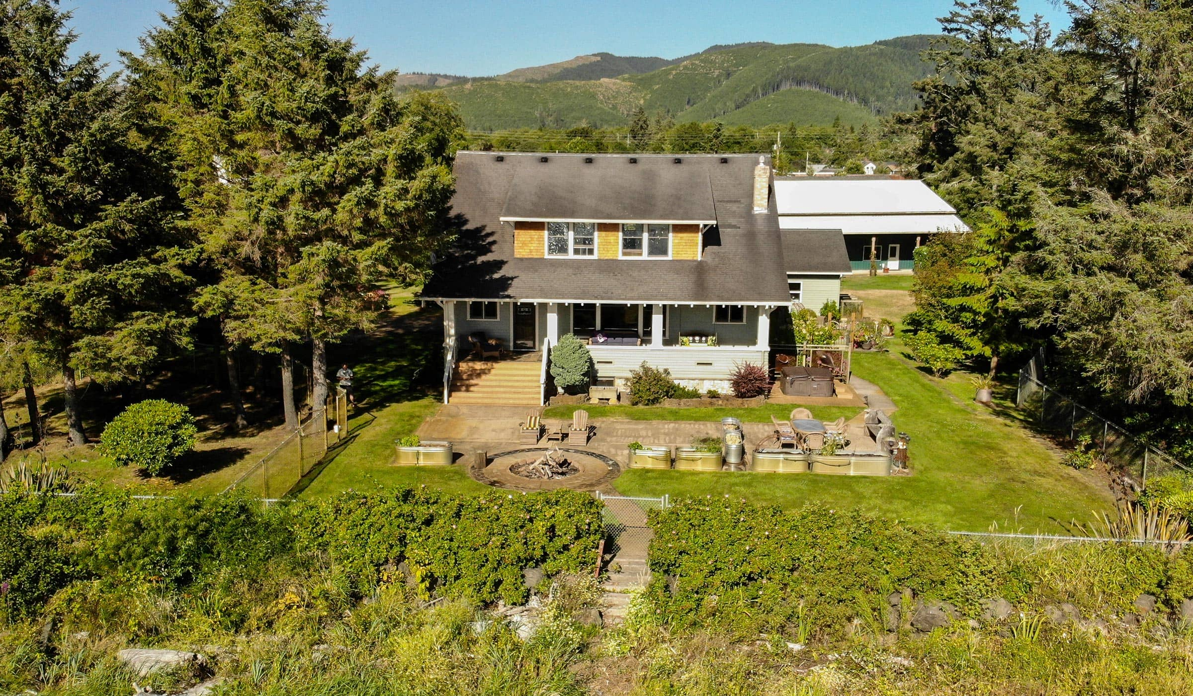 Eastward view of this Chinook Luxury Waterfront Estate