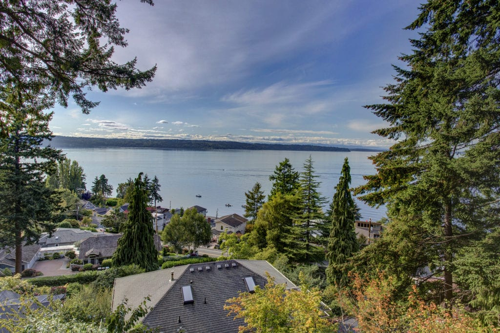 Puget Sound View Mid-Century Home Vashon Island View