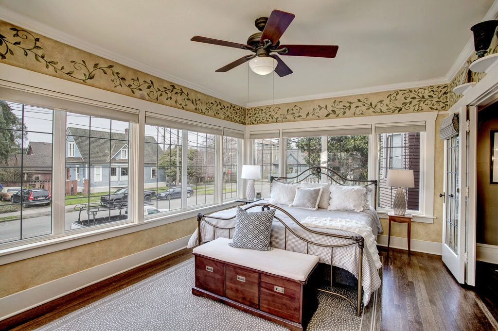 Classic Capitol Hill Home, Sunroom with Original Leaded Windows with Indows Inserts