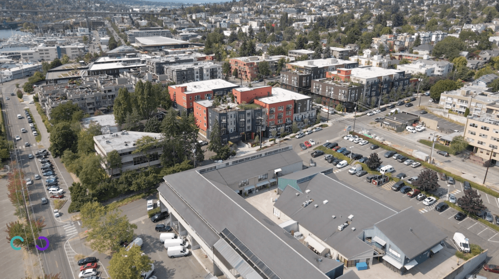 Drone Aerial View of Wallingford, Seattle