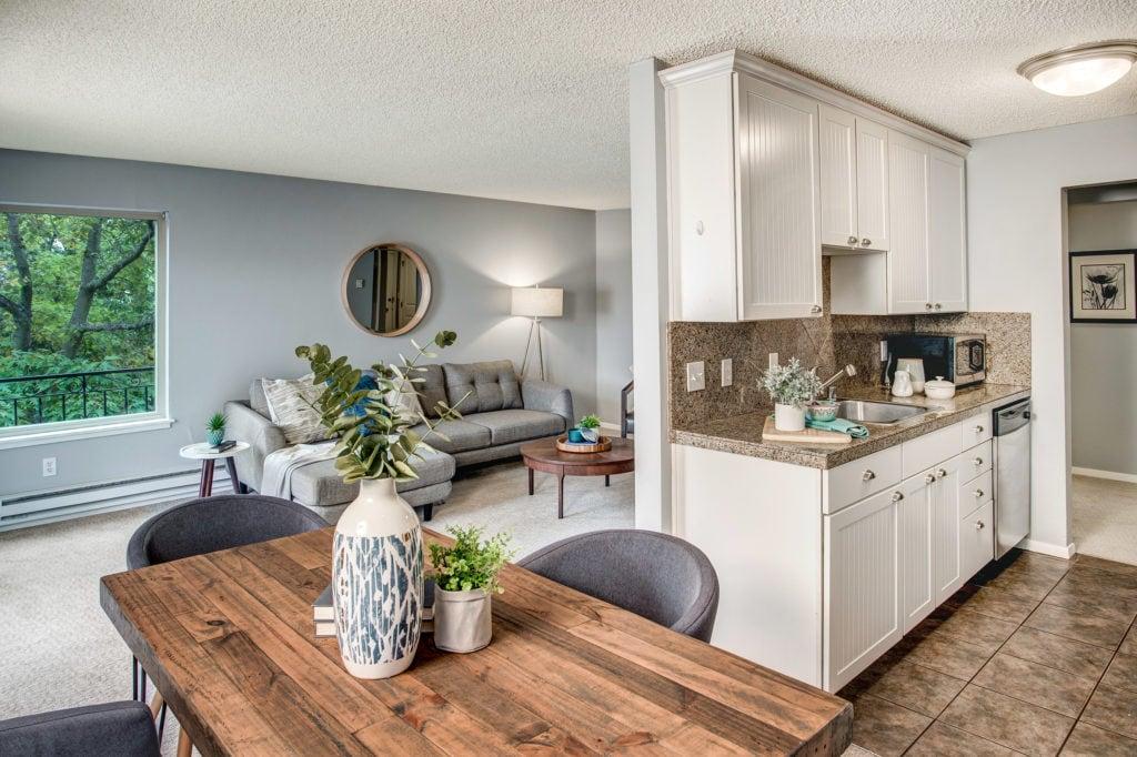 Classic Ballard Condo, Dining Area, Living Area, Kitchen