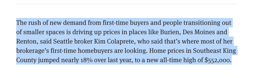 Kim Colaprete Quoted in the Autumn 2020 Real Estate Market