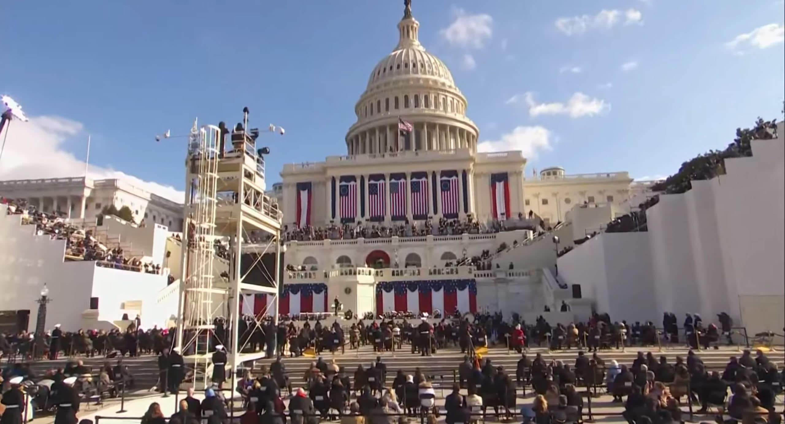 Roy and Kim Show Inauguration Day Edition: The US Capitol building during the Inauguration of President Joe Biden