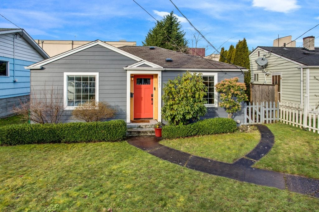 Remodeled West Seattle Bungalow Exterior and Front Yard