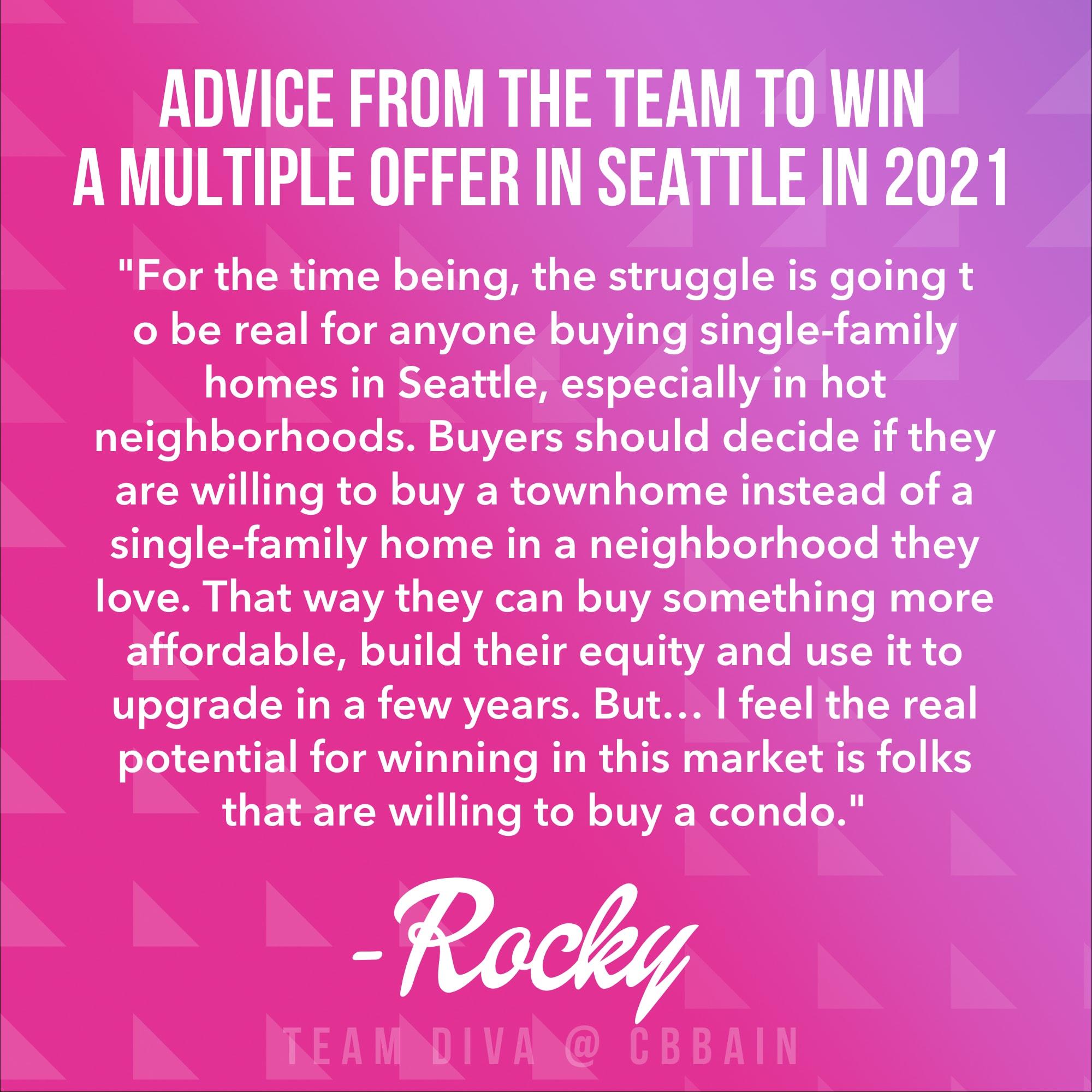 Winning a Multiple Offer in Seattle Real Estate
