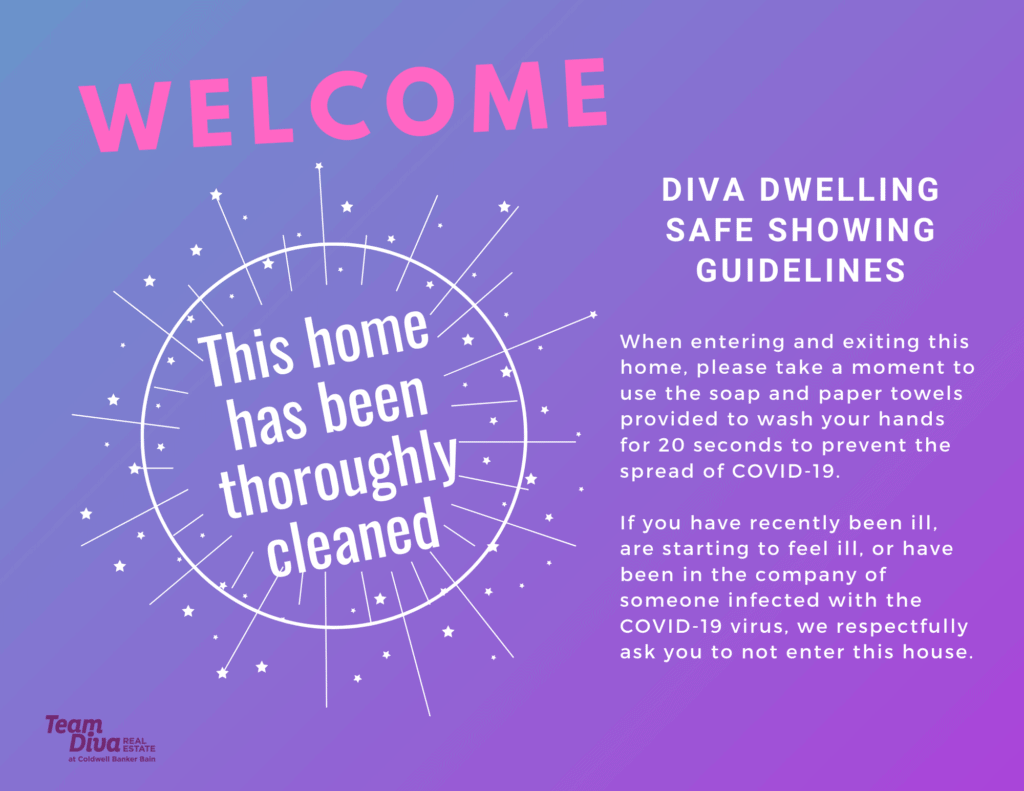 Team Diva's COVID Signage