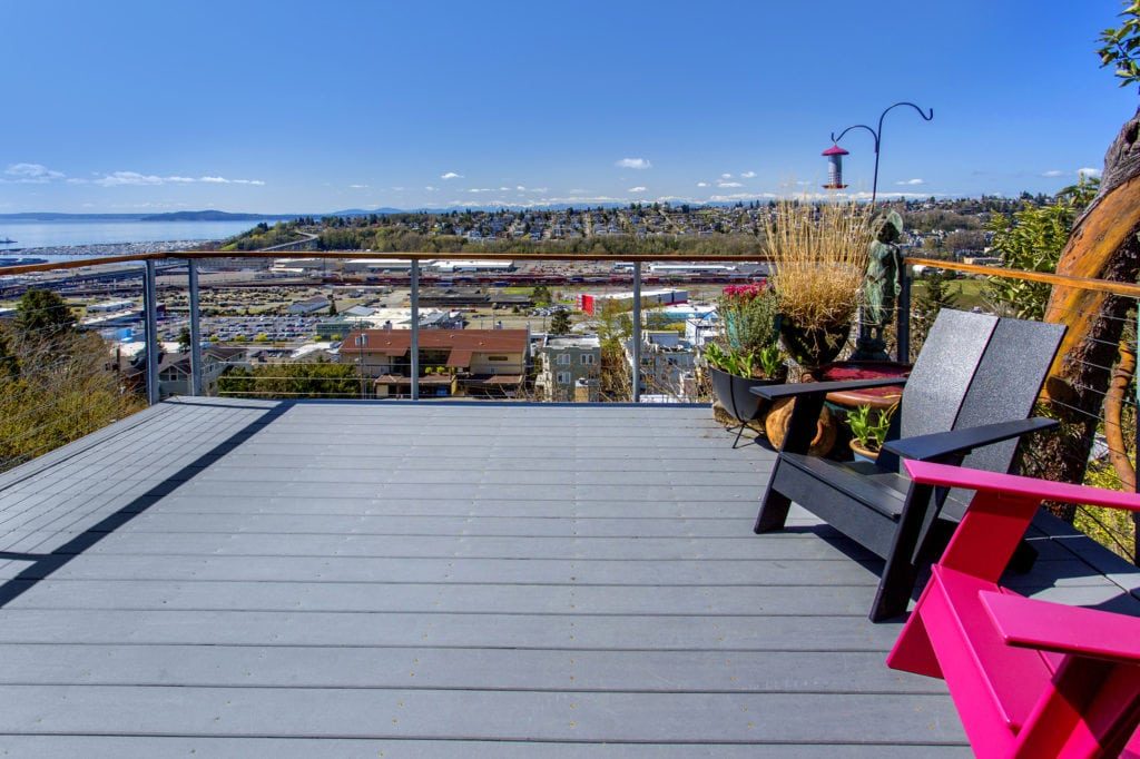 Modern-Queen-Anne-View-Home-Living-Level-Private-Deck-Interbay-View-Magnolia-View-Puget-Sound-View-Olympic-Peninsula-View