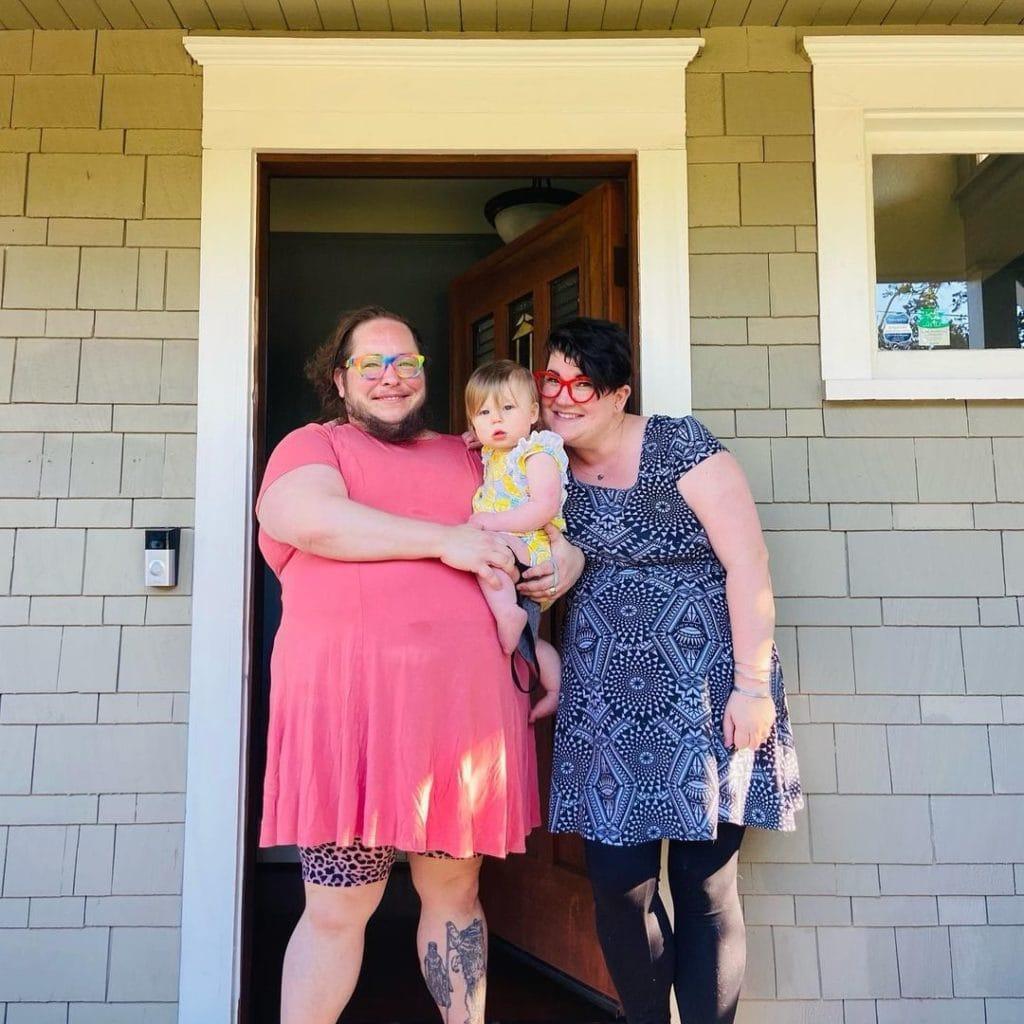 Heath, Baby Mars, and Lara at their New Tacoma Home