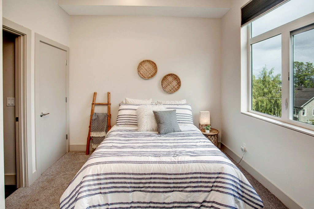 Modern Queen Anne Townhome Entry Level Bedroom Suite
