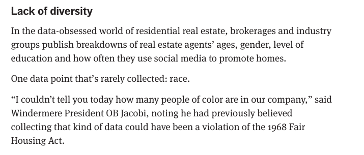 Seattle Times Article Racism in Real Estate