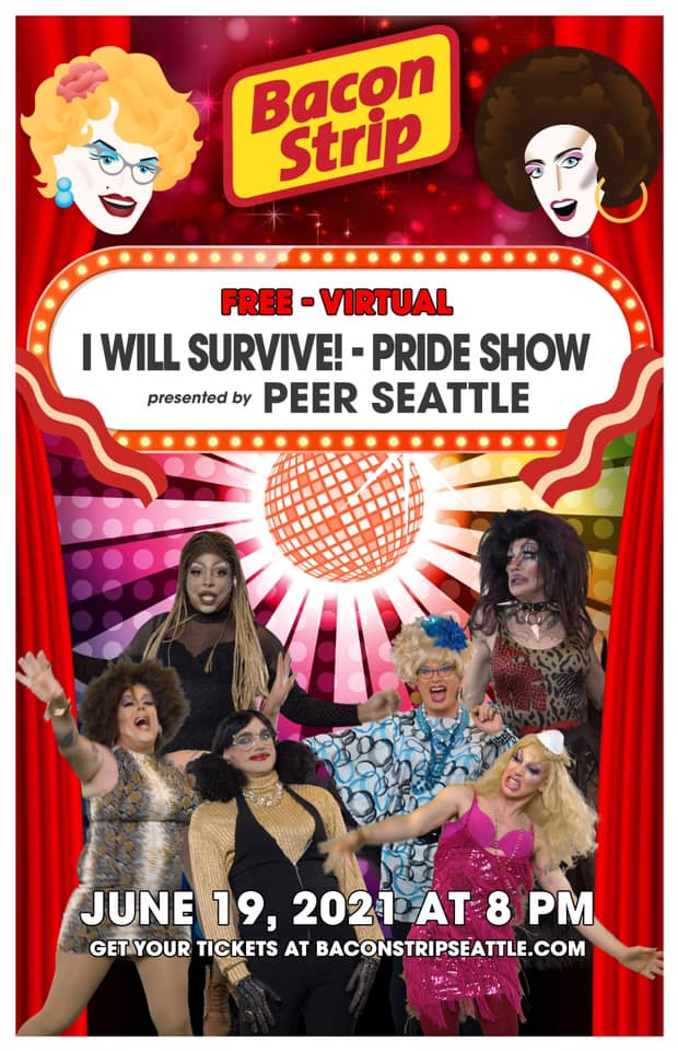 Sylvia O'Stayformore Bacon Stip Seattle Pride 2021