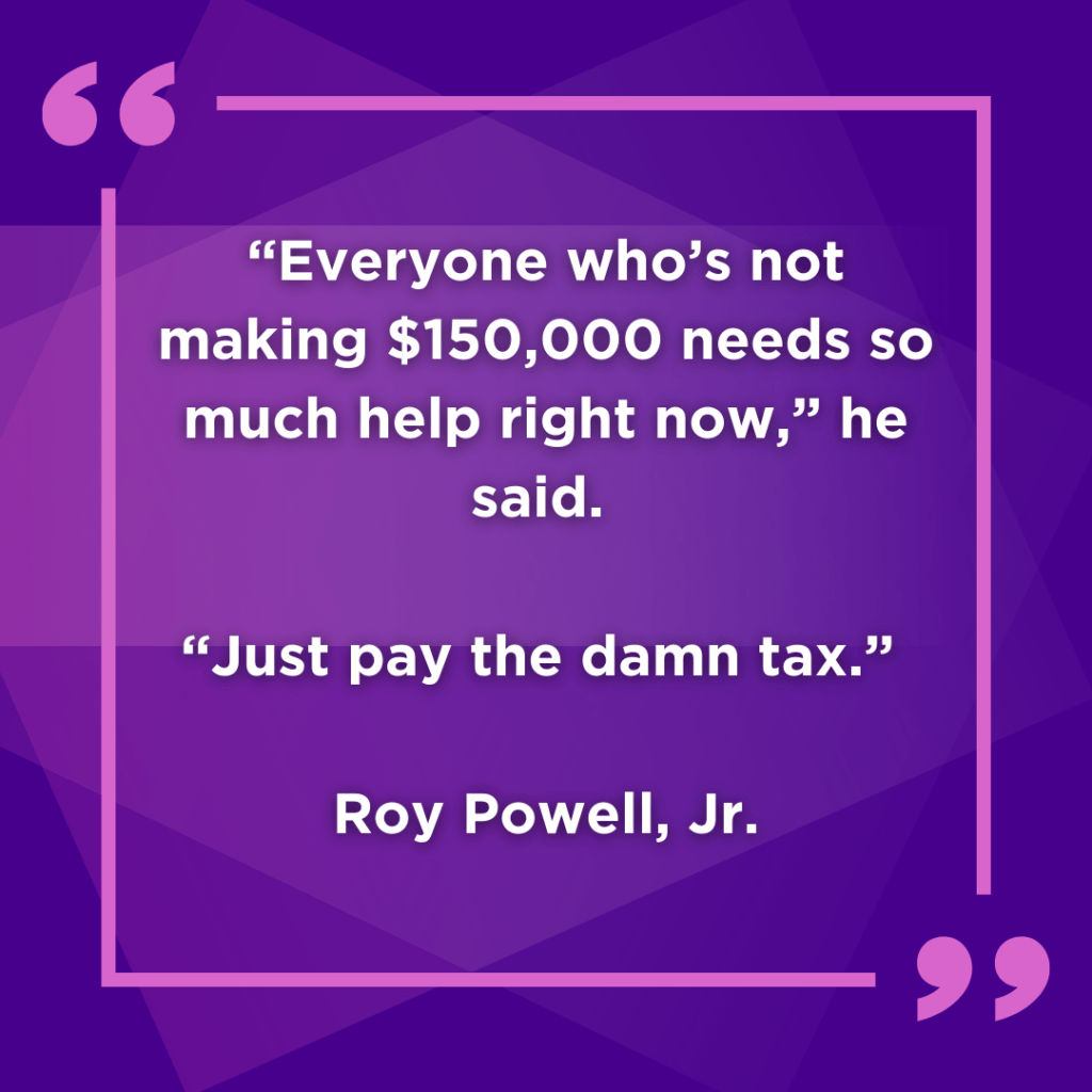 Roy Powell's Quote in the Seattle Payroll Tax and the Impact to High Earners