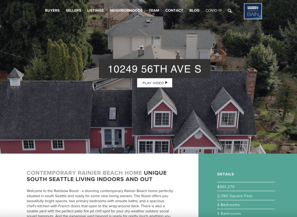 Just Sold Rainier Beach Home Listing Page
