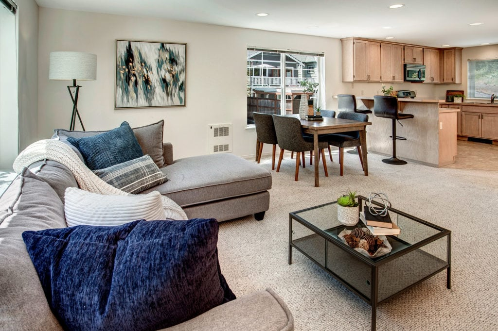 Maple Leaf Townhome Open Living Area