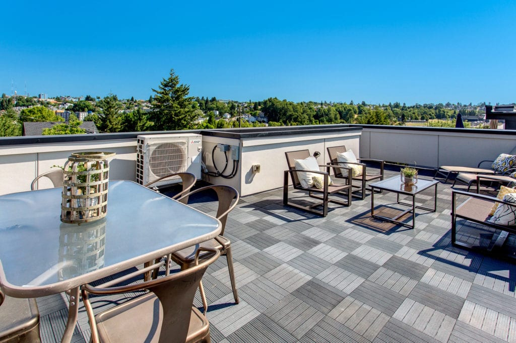 North Beacon Hill Townhouse Rooftop Deck View