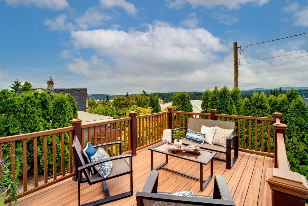 Seward Park Home View Deck