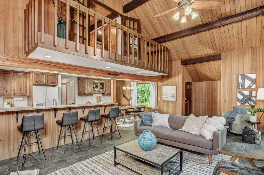 Seattle Mid-Century Home Open Living Area