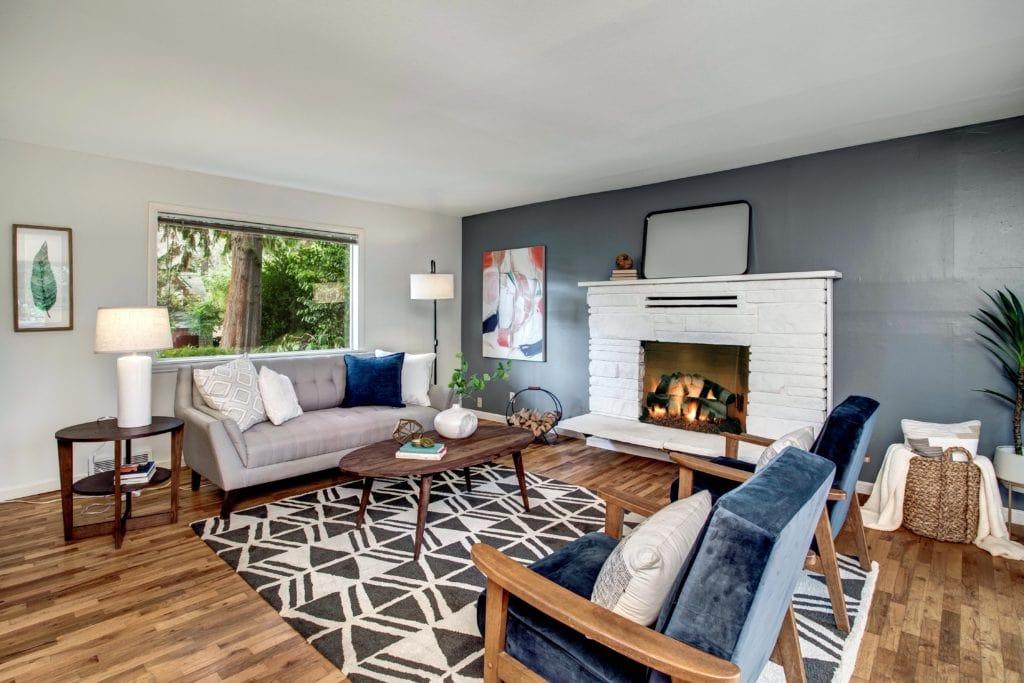 Wedgwood Mid-Century Home Formal Living Room