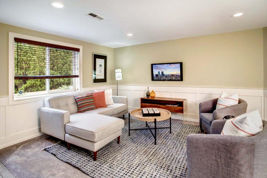 Seward Park Home Basement Living Area