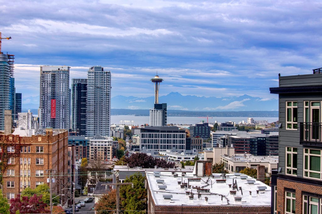 Capitol Hill Condo Space Needle View and Seattle View