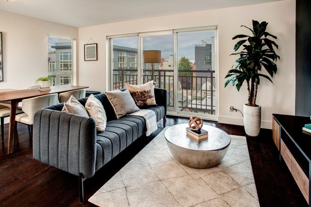 Capitol Hill Condo Open Living Area